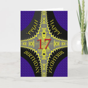 Abstract Birthday Card For A 17 Year Old