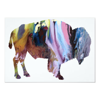 Abstract Bison Silhouette Card