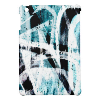Abstract black and blue graffiti case for the iPad mini