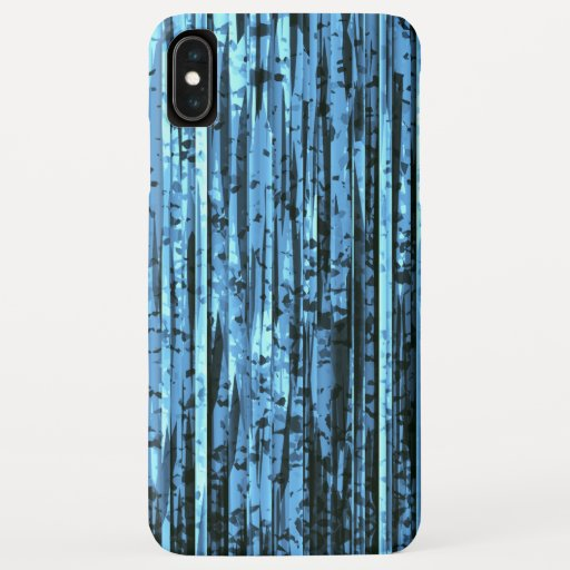 Abstract Black And Blue Stripes iPhone XS Max Case