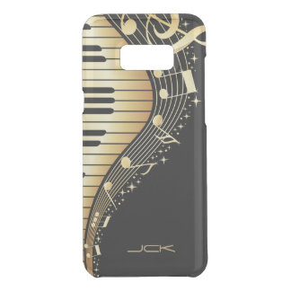 Abstract Black And Gold Piano Uncommon Samsung Galaxy S8  Case