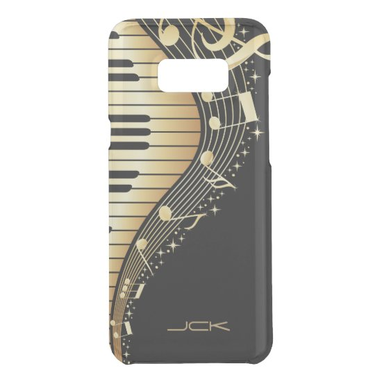Abstract Black And Gold Piano Uncommon Samsung Galaxy S8+ Case