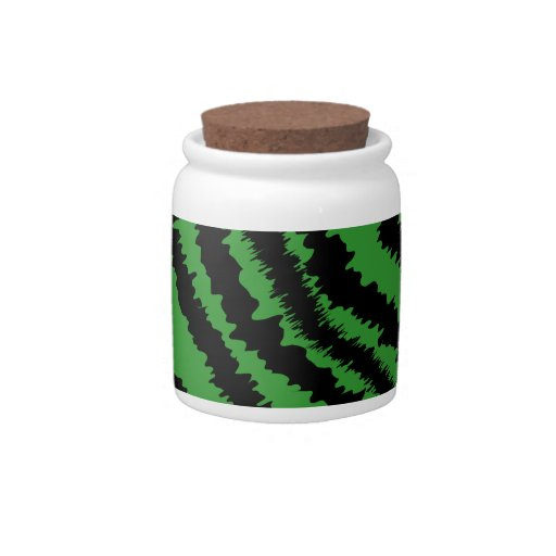 Abstract Black and Green Jungle Print Pattern. Candy Jar