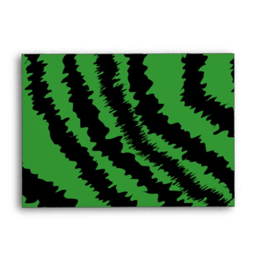 Abstract Black and Green Jungle Print Pattern. Envelope
