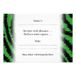 Abstract Black and Green Jungle Print Pattern. Custom Announcement