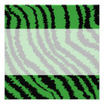 Abstract Black and Green Jungle Print Pattern. Custom Invites