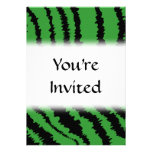 Abstract Black and Green Jungle Print Pattern. Personalized Announcement