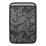 Abstract Black and Grey Floral Pattern MacBook Air Sleeve