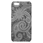 Abstract Black and Grey Floral Pern iPhone 5C Case