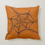 Abstract Black and Oranage Fractal Pillow
