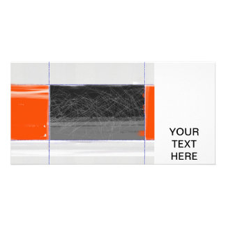Abstract Black and Orange Photo Card Template