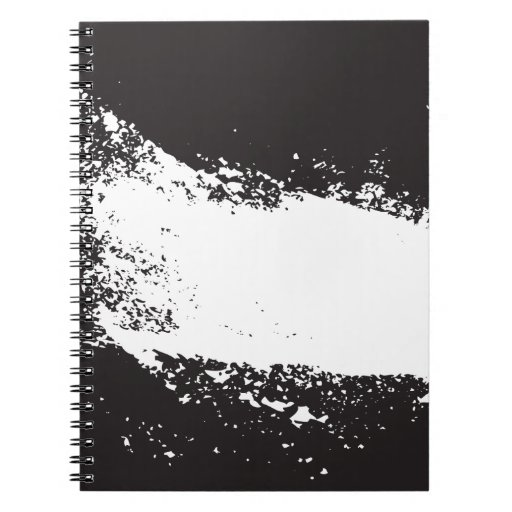 abstract black and white art vo3 spiral notebooks