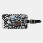 Abstract Black and White Artsy Design Luggage Tag