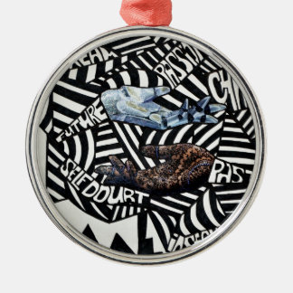 Abstract Black and White Artsy Design Ornament