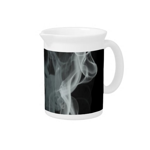 Abstract Black and White Beautiful Smoke Design Beverage Pitcher