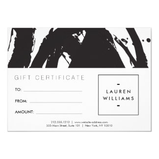 Abstract Black and White Brushstrokes Gift Card