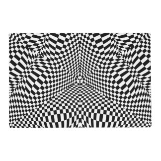 black and white checkered placemats zazzle. Black Bedroom Furniture Sets. Home Design Ideas