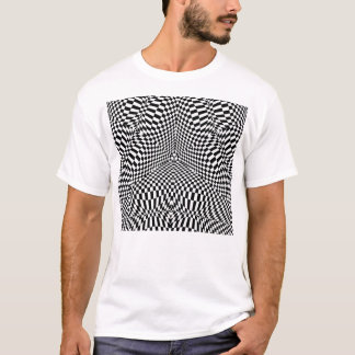 Abstract black and white checkered pattern T-Shirt
