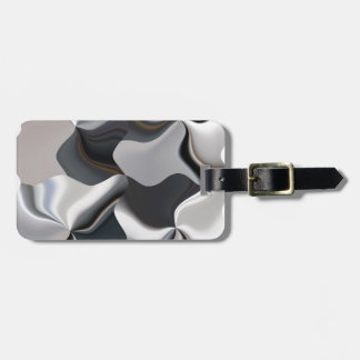 Abstract black and white design bag tag