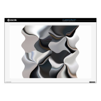 Abstract black and white design decal for laptop