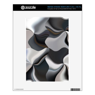 Abstract black and white design decal for NOOK