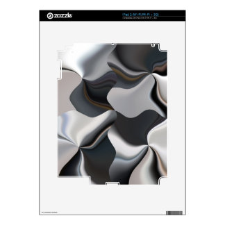 Abstract black and white design iPad 2 decal