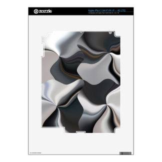 Abstract black and white design iPad 3 skin