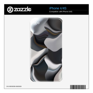 Abstract black and white design iPhone 4 skin