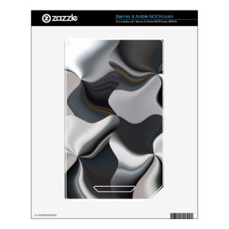Abstract black and white design NOOK color skins