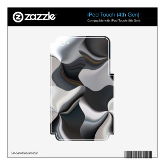 Abstract black and white design iPod touch 4G decal