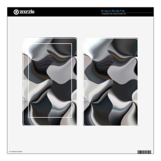 Abstract black and white design skins for kindle fire