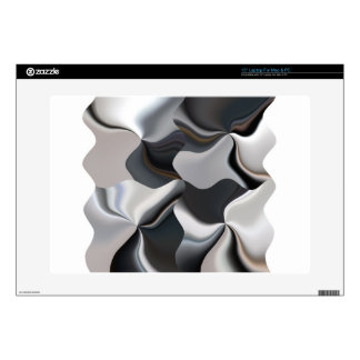 """Abstract black and white design skins for 15"""" laptops"""