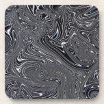 Abstract Black And White Digital Art Beverage Coaster
