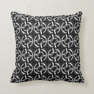 Abstract Black And White Pattern Pillow