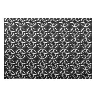 Abstract Black And White Pattern Placemat