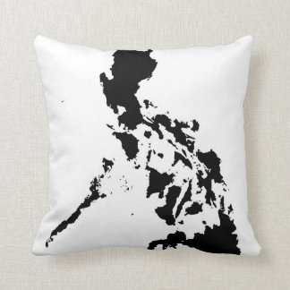 abstract black and white pillow philippine map