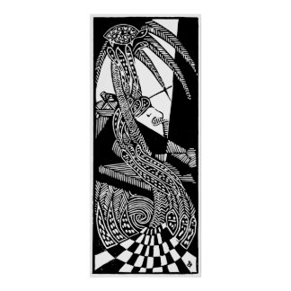 Abstract Black and White Poster