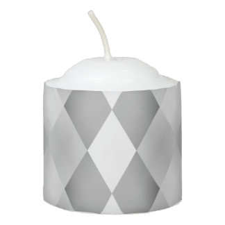 Abstract Black and White Square Pattern Votive Candle