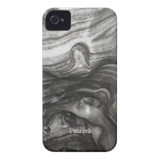 Abstract Black and White Waves Case-Mate iPhone 4 Case