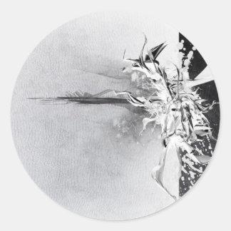 Abstract Black and White Wild Design Classic Round Sticker