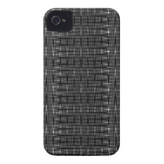 Abstract black and white zig zag pattern case iPhone 4 case