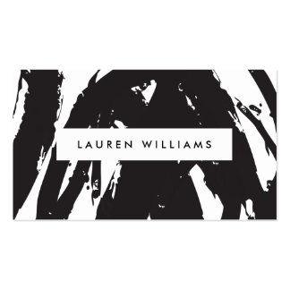 Abstract Black Brushstrokes Business Card Pack Of Standard Business Cards