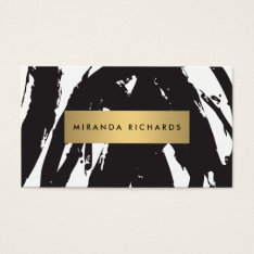 Abstract Black Brushstrokes for Makeup Artist Business Card at Zazzle