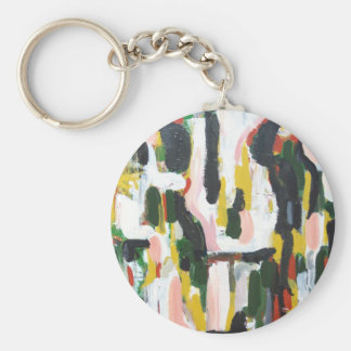 Abstract Black Cats and White Dogs Keychain