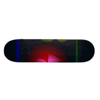 Abstract Black Contrast Flower and Vase Skate Board