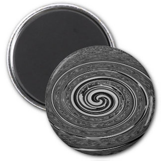 """Abstract Black """"Cyclone"""" Design 2 Inch Round Magnet"""