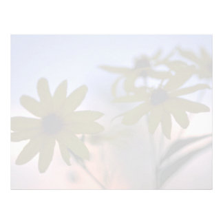 Abstract Black-eyed Susans Personalized Letterhead