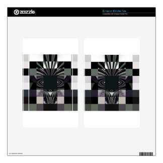 abstract black kindle fire decal