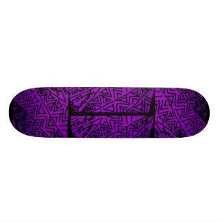 Abstract Black/Purple Design #3 Skate Boards