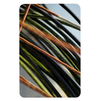 abstract black red and green urban photograph magnet